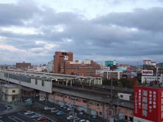 鳥取駅裏の朝