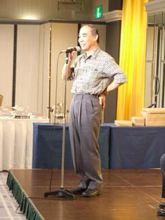 田中芳樹さん御挨拶