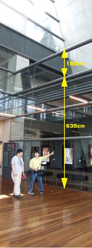二階ホワイエは高い
